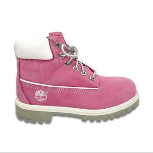 Girls Pink Timberland Waterproof Boots Size 1M